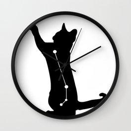 aries cat Wall Clock