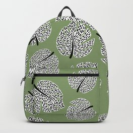 Abstract Monstera Leaf Pattern green Backpack