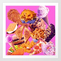 junk food Art Prints featuring Junk  by ♡♡Transparent Mess♡♡
