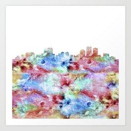 Anchorage City Skyline Art Print