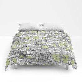 Paris toile eau de nil Comforters