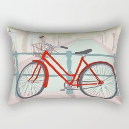 Amsterdam Canal Bike Rectangular Pillow