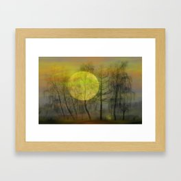 Evening moon Framed Art Print