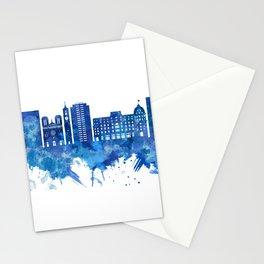 Nice France Skyline Blue Stationery Cards