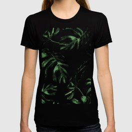 Tropical Green Palm Leaves T-shirt
