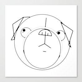 Pug Crop Cirlces Canvas Print