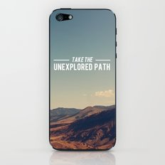 Take The Unexplored Path iPhone & iPod Skin