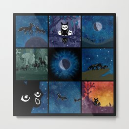 """Scenes from """"To the Moon and Back"""" Metal Print"""