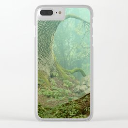 Enchanted misty forest Clear iPhone Case