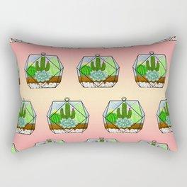 Succulent & Cactus Terrarium Rectangular Pillow