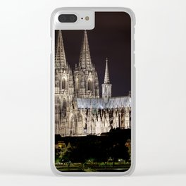 Cologne Cathedral By Night Clear iPhone Case