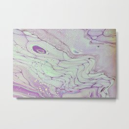 Dirty Acrylic Paint Pour 26, Fluid Art Reproduction Metal Print
