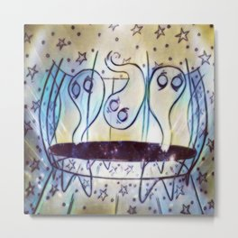 Ghosties on Trampolines Metal Print