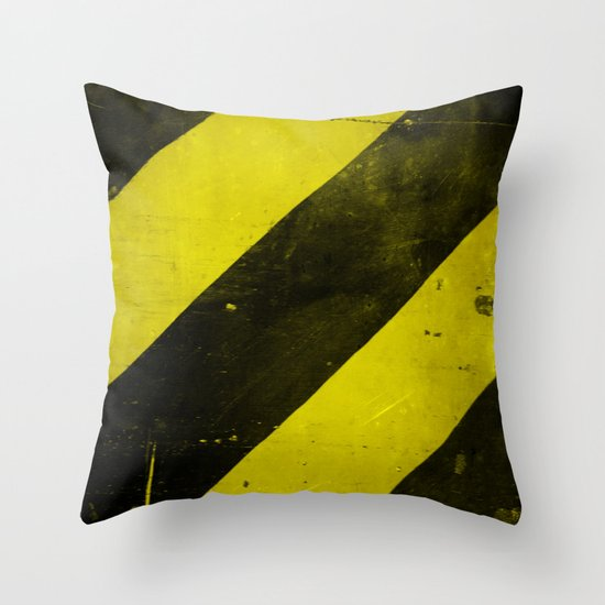 Warning II! Throw Pillow