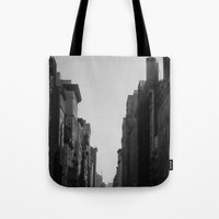 broadway Tote Bags featuring Broadway by Loved and Lost