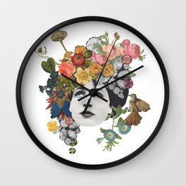 Head in the Flowers Wall Clock