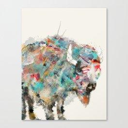 into the wild the buffalo Canvas Print
