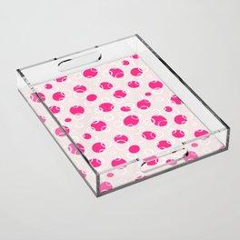 16 Pink Bubbles Acrylic Tray