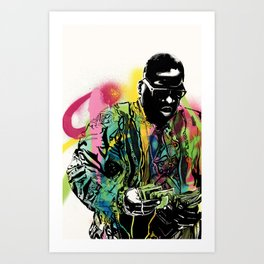 Biggie Smalls Spray Paint Illustration Art Print
