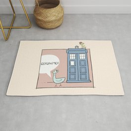 Don't Let the Pigeon Drive the Tardis Rug