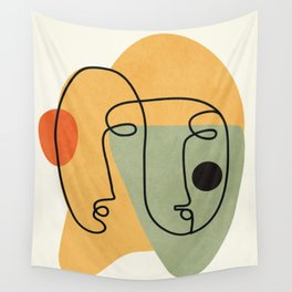 Abstract Faces 19 Wall Tapestry