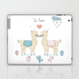 Llamas In Love Laptop & iPad Skin