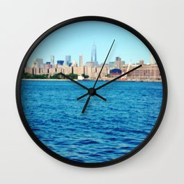 From the East River, 1 World Trade Center in New York City Wall Clock