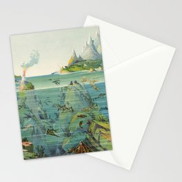 Vintage Pictorial World Ecosystem Map (1893) Stationery Cards