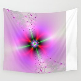 Floral Sprays in Pink and Green Wall Tapestry