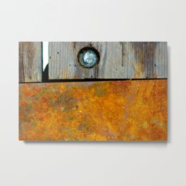 Iron and wood Metal Print