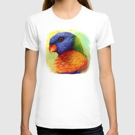 Rainbow lorikeet realistic painting T-shirt