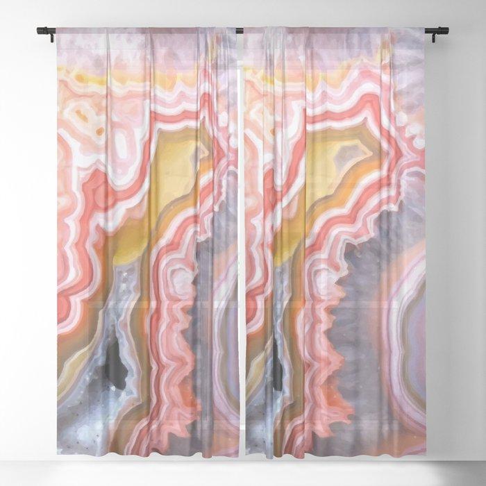 Agate Gem slice Sheer Curtain