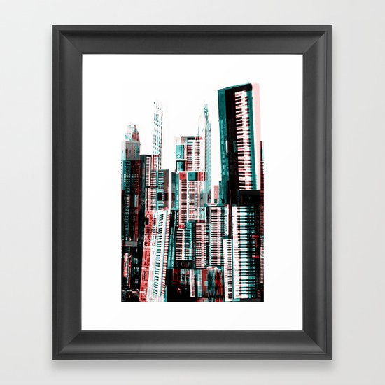 Keyboard Dreams Framed Art Print