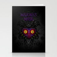 majoras mask Stationery Cards featuring Majora's Mask by Art & Be