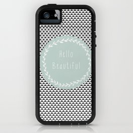 Hello Beautiful, Geometric, Quote, Modern, Home Decor iPhone Case