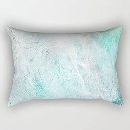 Mint Green Abstract Rectangular Pillow