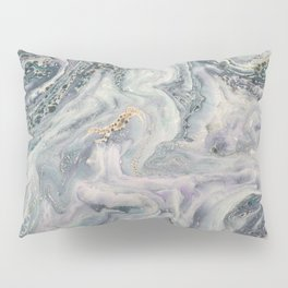 Marbled Metallic paper Pillow Sham