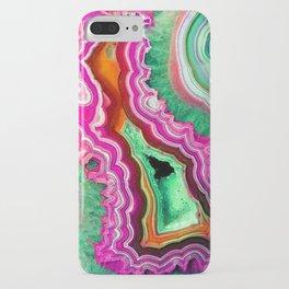 Unicorn Candy Quartz Crystal Agate iPhone Case