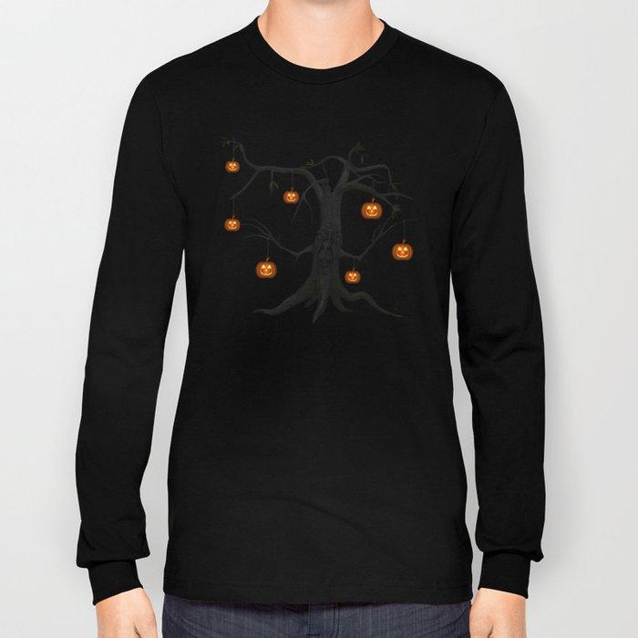 SCARY HALLOWEEN TREE Long Sleeve T-shirt