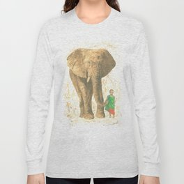 The elephant and the child queen Long Sleeve T-shirt