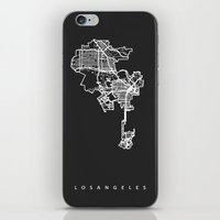 los angeles iPhone & iPod Skins featuring LOS ANGELES by Nicksman