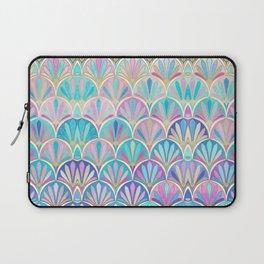 Glamorous Twenties Art Deco Pastel Pattern Laptop Sleeve
