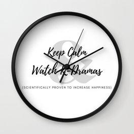 Keep Calm & Watch K-Dramas Wall Clock