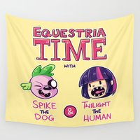 mlp Wall Tapestries featuring Equestria Time by Space-Kid