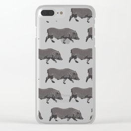 Fat Little Pig Pattern Clear iPhone Case