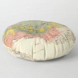 Vintage Geological Map of The Mount Everest Region (1921) Floor Pillow