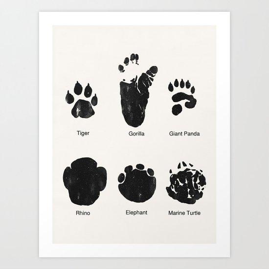 Animal Track Art Print