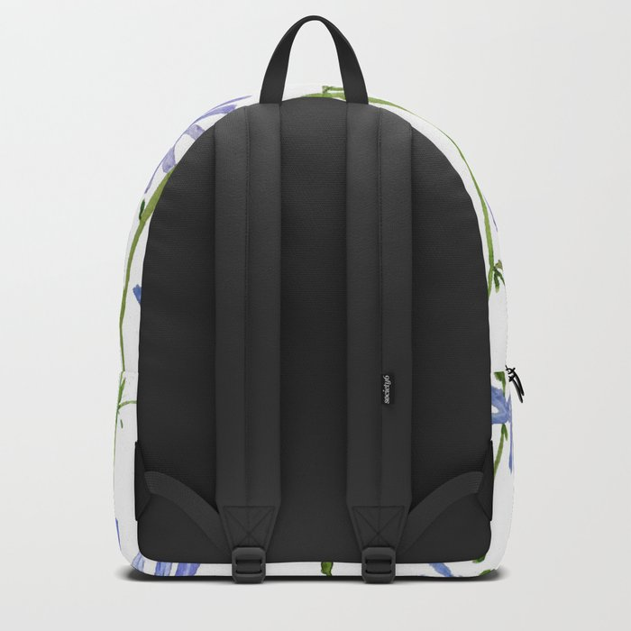 blue chicory watercolor Backpack