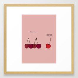Cherry Ice Cream Sundae Framed Art Print