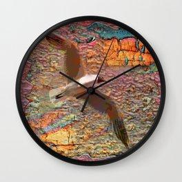Sea and Gold Wall Clock